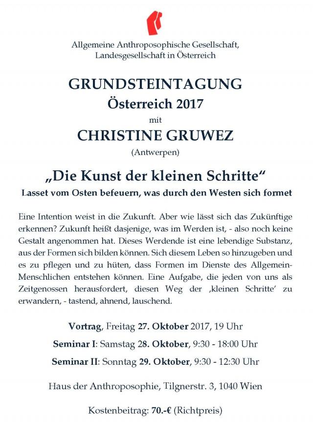 Ankündigung Grundstein-Tagung 2017