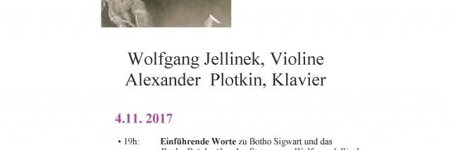 Plakat Konzert Sigwart 4.11. 2017