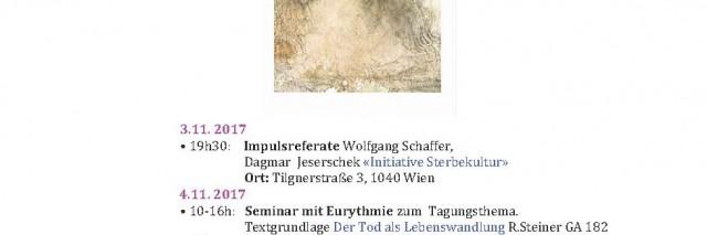 Plakat Symposium Sterbekultur