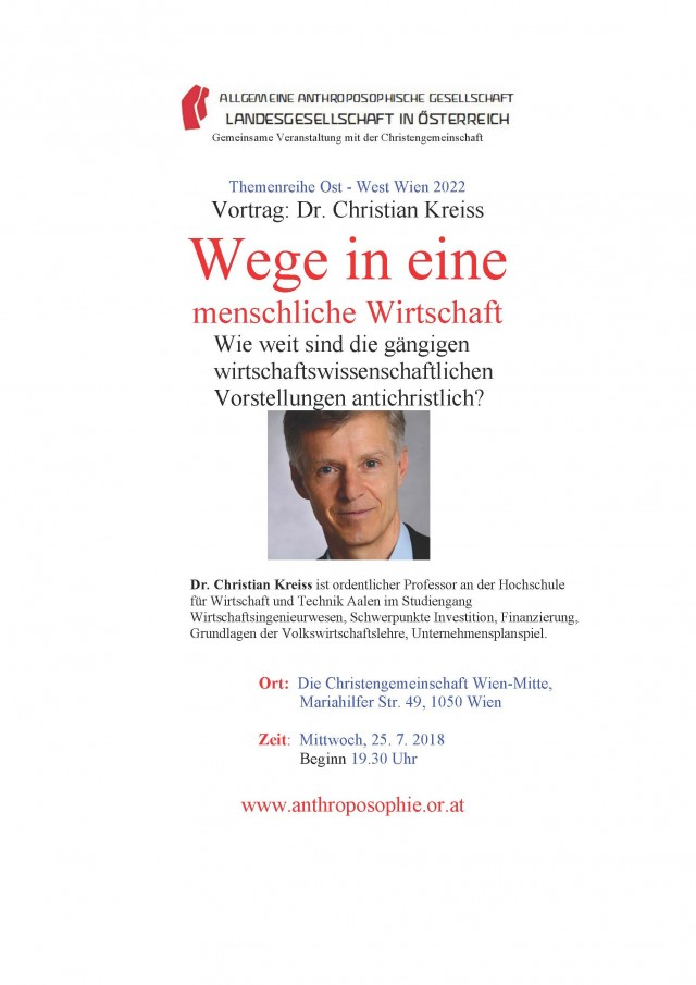 Plakat Ost-West Dr. Christian Kreiss