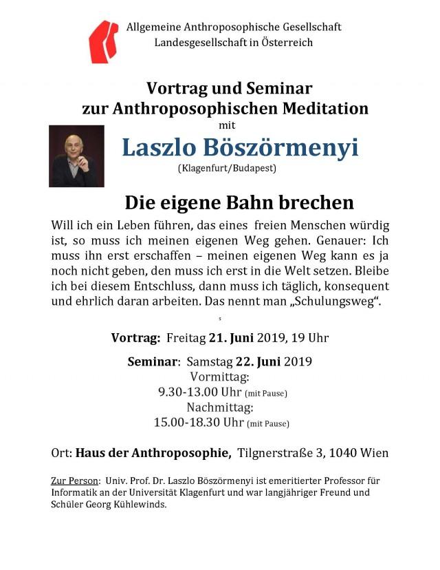 Ankündigung L. Böszörmenyi Juni 2019 Wien